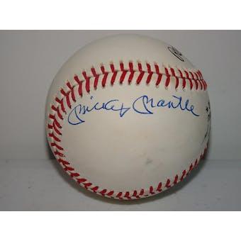 Mickey Mantle/Willie Mays/Duke Snider Autographed NL Giamatti Baseball PSA/DNA D57465 (Reed Buy)