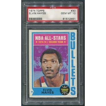 1974/75 Topps Basketball #30 Elvin Hayes All Star 2 PSA 10 (GEM MT)