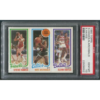 1980/81 Topps Basketball #4 Steve Hawes Nate Archibald Elvin Hayes PSA 10 (GEM MT)
