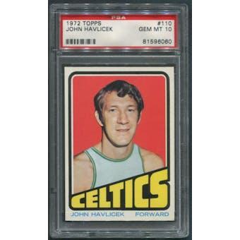 1972/73 Topps Basketball #110 John Havlicek PSA 10 (GEM MT)