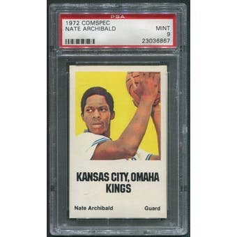 1972/73 Comspec Basketball #3 Nate Archibald PSA 9 (MINT)