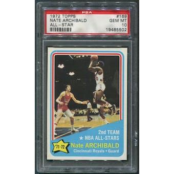 1972/73 Topps Basketball #169 Nate Archibald All Star PSA 10 (GEM MT)