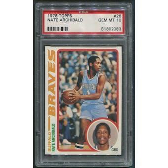 1978/79 Topps Basketball #26 Nate Archibald PSA 10 (GEM MT)