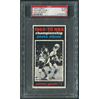 1970/71 Topps Basketball #168 Playoff Game 1 Willis Reed PSA 9 (MINT)