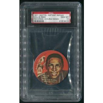 1971 Mattel Mini-Records Basketball #BK7 Willis Reed Double Sided PSA 10 (GEM MT)