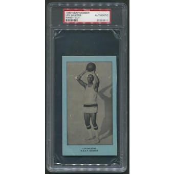 1969 NBAP Members Basketball #19 Len Wilkens Hand Cut PSA Authentic