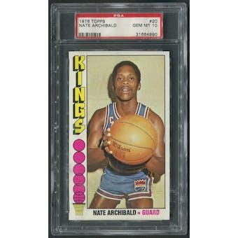 1976/77 Topps Basketball #20 Nate Archibald PSA 10 (GEM MT)