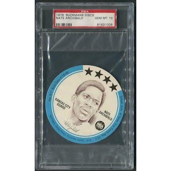 1976 Buckmans Discs #2 Nate Archibald PSA 10 (GEM MT)