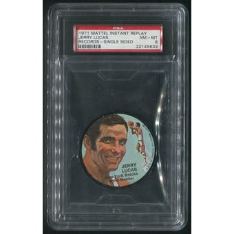 1971 Mattel Mini-Records #BK4 Jerry Lucas Single Sided PSA 8 (NM-MT)