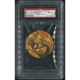 1971 Mattel Mini-Records #BK3 Wilt Chamberlain Double Sided PSA 10 (GEM MT)