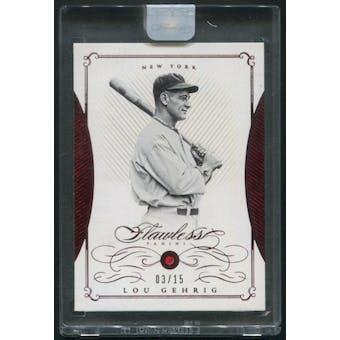 2016 Panini Flawless #30 Lou Gehrig Ruby #03/15