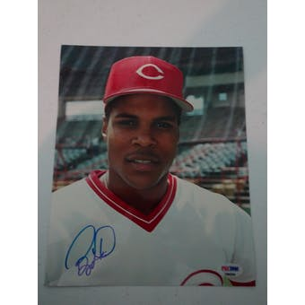 Barry Larkin Autographed Reds 8x10 Photo PSA/DNA D96204 (Reed Buy)