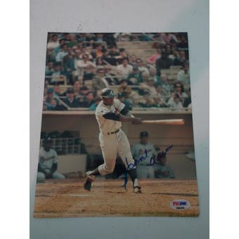 Hank Aaron Autographed Braves 8x10 Photo PSA/DNA D96206 (Reed Buy)