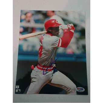 Eric Davis Autographed Reds 8x10 Photo PSA/DNA D96215 (Reed Buy)