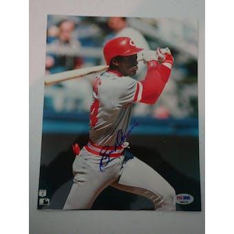 Eric Davis Autographed Reds 8x10 Photo PSA/DNA D96216 (Reed Buy)