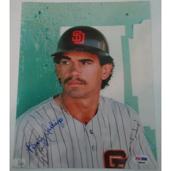 Benito Santiago Autographed Padres 8x10 Photo PSA/DNA D96249 (Reed Buy)