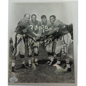Million Dollar Backfield Autographed Niners 8x10 Photo JSA FF49091 (Reed Buy)