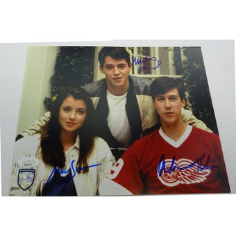 Ferris Bueller's Day Off (Broderick, Ruck, Sara) Autographed 8x10 Photo JSA BB28164 (Reed Buy)