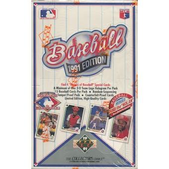 1991 Upper Deck Low # Baseball Wax Box