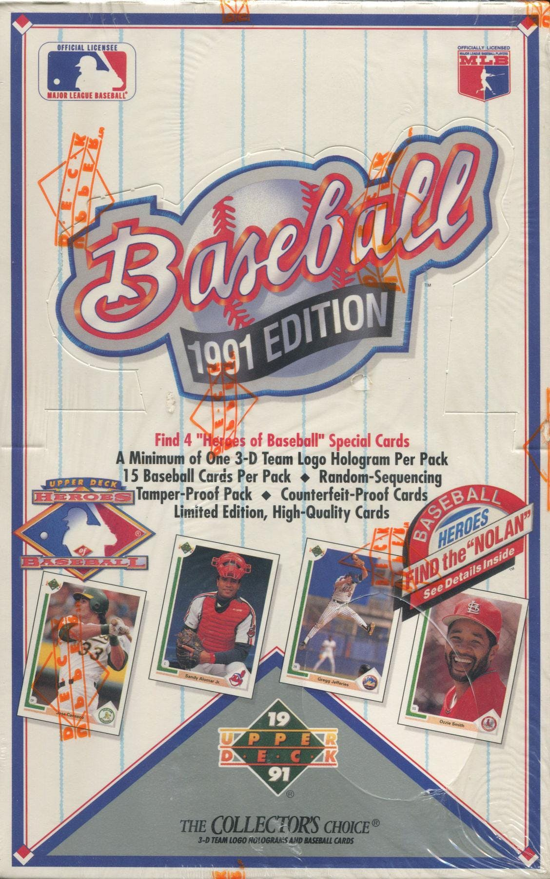 1991 Upper Deck Low Baseball Wax Box Da Card World