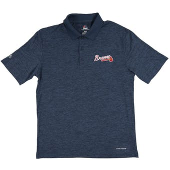 Atlanta Braves Majestic Endless Flow Navy Performance Polo (Adult XX-Large)