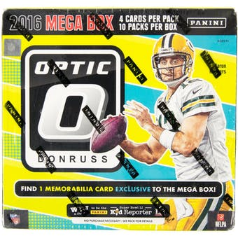 2016 Panini Donruss Optic Football Mega Box