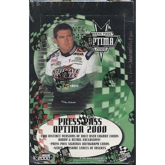 2000 Press Pass Optima Racing Hobby Box