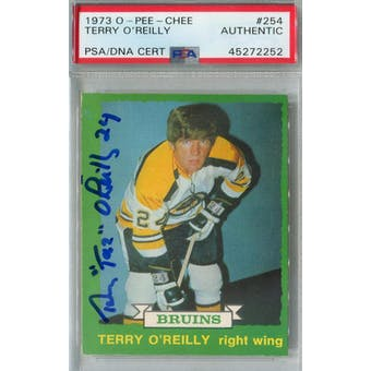 1973/74 O-Pee-Chee Hockey #254 Terry O'Reilly RC PSA/DNA AUTH *2252 (Reed Buy)
