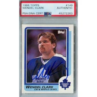 1986/87 Topps Hockey #149 Wendel Clark RC PSA/DNA AUTH *2263 (Reed Buy)