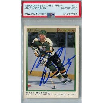 1990/91 O-Pee-Chee Premier Hockey #74 Mike Modano RC PSA/DNA AUTH *2264 (Reed Buy)