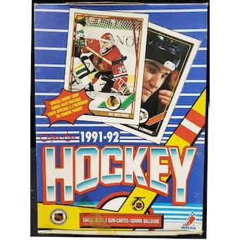 1991/92 O-Pee-Chee Hockey Wax Box (Reed Buy)