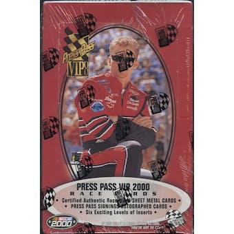 2000 Press Pass VIP Racing Hobby Box