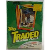 1990 Topps Traded & Rookies Baseball Wax Box (Reed Buy)