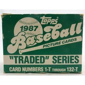1987 Topps Traded & Rookies Baseball Factory Set (Reed Buy)