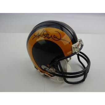 Kurt Warner Autographed St. Louis Rams Throwback Mini Helmet TriStar 7191191 (Reed Buy)