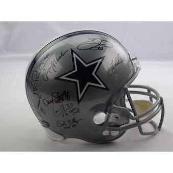 Dallas Cowboys Autographed Replica Helmet (23 sigs) JSA BB15924 (Reed Buy)