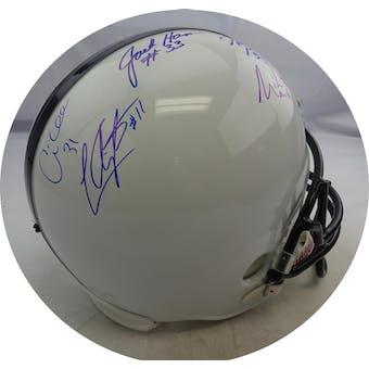 Penn State Linebackers Autographed Replica Helmet (7 sigs) JSA BB28742 (Reed Buy)