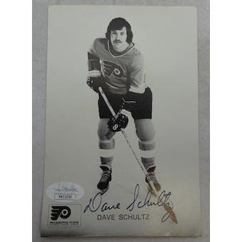 Dave Schultz Autographed Philadelphia Flyers Postcard JSA HH11654 (Reed Buy)