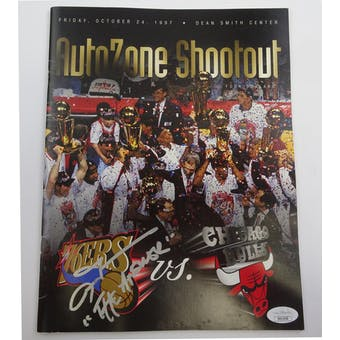 Allen Iverson Autographed Basketball Program (The Answer) JSA HH11650 (Reed Buy)
