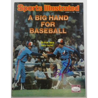 Gary Carter Autographed Sports Illustrated 8/17/81 Magazine JSA HH11646 (Reed Buy)