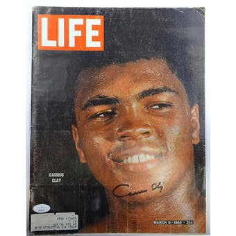 Cassius Clay Autographed Life Magazine 3/6/64 JSA BB28693 (Reed Buy)