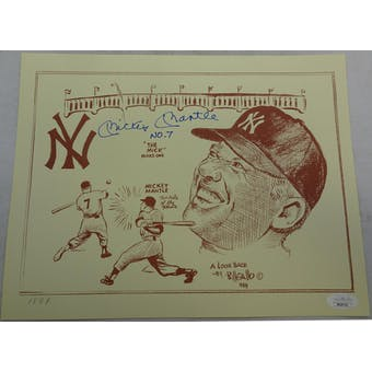 Mickey Mantle Autographed Gallo Print (No. 7) JSA BB28705 (Reed Buy)