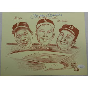 Mickey Mantle Autographed Gallo Print JSA BB28706 (Reed Buy)