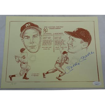 Mickey Mantle Autographed Gallo Print JSA BB28707 (Reed Buy)
