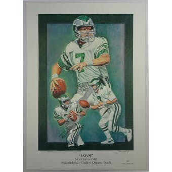 Ron Jaworski Autographed Philadelpia Eagles Print/Poster JSA HH11523 (Reed Buy)