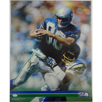 Steve Largent Autographed Seattle Seahawks Poster HH11513 (Reed Buy)