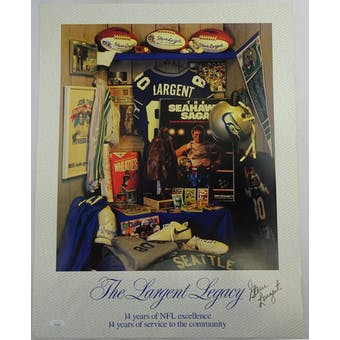 Steve Largent Autographed Seattle Seahawks Poster HH11512 (Reed Buy)
