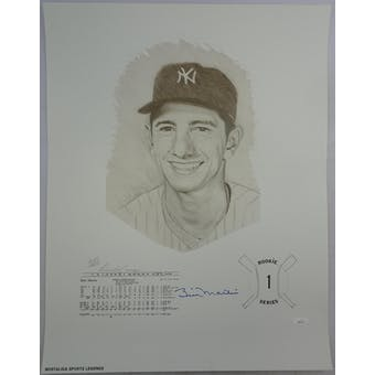 Billy Martin Autographed New York Yankees 18x24 Lithograph JSA BB28709 (Reed Buy)