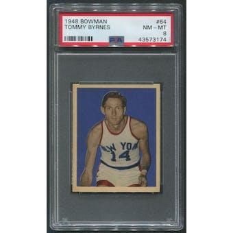 1948 Bowman Basketball #64 Tommy Byrnes PSA 8 (NM-MT)