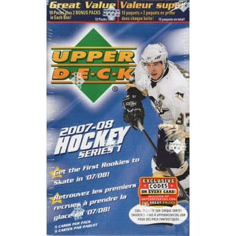 2007/08 Upper Deck Series 1 Hockey 12-Pack Box